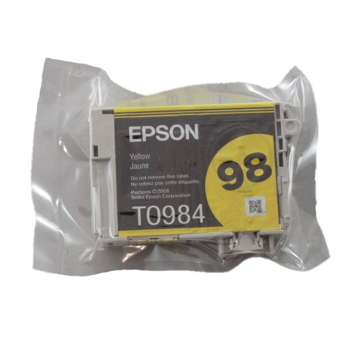Genuine Epson T098 Yellow Ink Cartridge T098420 (1 Yellow)