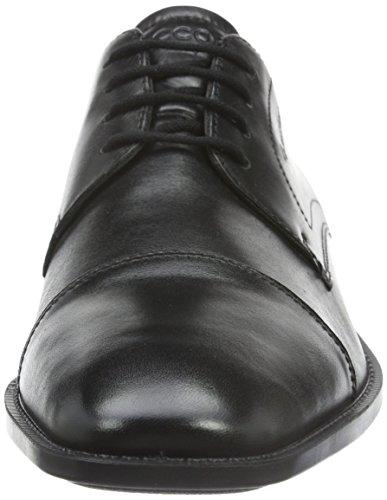 Ecco ECCO EDINBURGH - Zapatos de cordones de cuero para hombre Negro (BLACK11001)