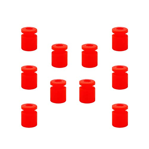 Spacers Mount Shock (Racingirl NIDICI 10pcs M3 Anti Vibration Rubber Damper Balls for FPV F4 F7 Flight Controller Stack 4 in 1 ESC Shock Absorption Balls (Red))