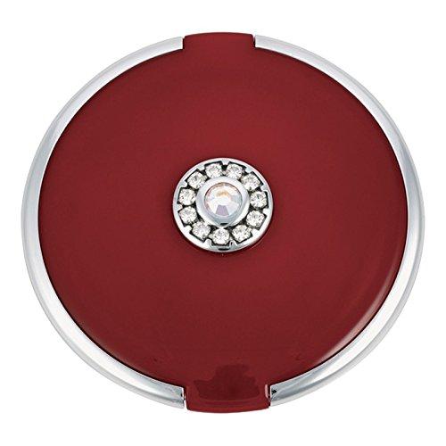 ジョンルイスラウンド銀トリム結晶が赤いコンパクトミラーを設定します (John Lewis) (x6) - John Lewis Round Silver Trim Crystal Set Compact Mirror Red (Pack of 6) [並行輸入品] B01N3SKO0M