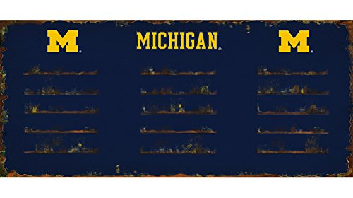 Imperial Officially Licensed NCAA Merchandise: Wall Mounted Metal Locker Coat Rack, Michigan Wolverines
