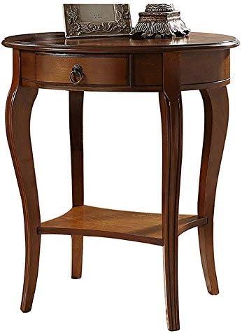 Goedkoop Rand van massief hout/zwenkhoekbereik: een paar telefoontafel, salontafel, tafel rond, bijzettafel, eenvoudige tafel  KAZXnkU