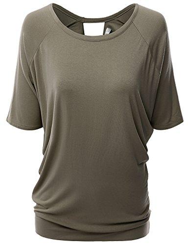 Doublju Unique Designed T Shirt DARKCOCOA