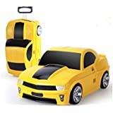 New Ride On Suitcase Toy Box Luggage Trolley Car Bag Box Case for Children Kids- Yellow