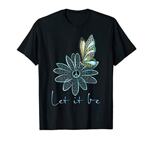 flower children tees for women let it be flower butterfly T-Shirt -