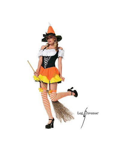 Emergency Services Fancy Dress Costumes (Candy Corn Witch Adult Costume - X-Small)