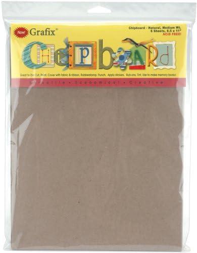 Grafix Medium Weight Chipboard Sheets 8.5X11 6//Pkg-Natural