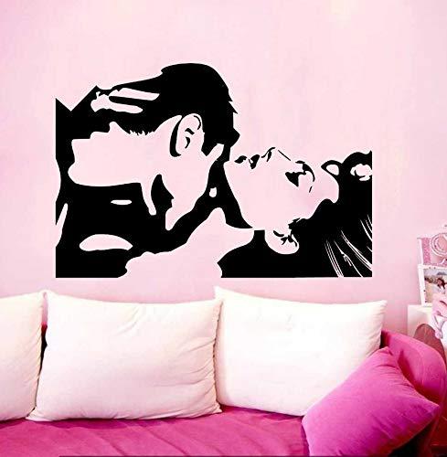 LSFHB Paar Mann Und Frau Kuss Liebe Wandtattoo Wallpaper Wand Schmuck Home Decor Mural 57X85Cm -
