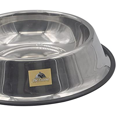 Pet Cuisine Stainless Steel Bowls Dog Cat Anti Slip Food Water Dishes