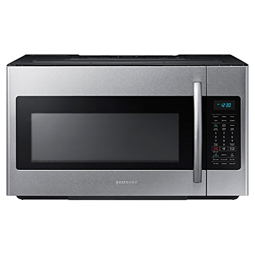 Samsung ME18H704SFS 1.8 Cu. Ft. 1000W Over-the-Range Microwave, Stainless Steel by Samsung