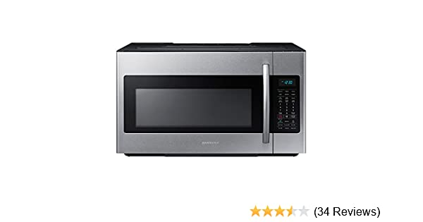Samsung ME18H704SFS 1.8 Cu. Ft. 1000W Over-the-Range Microwave, Stainless Steel