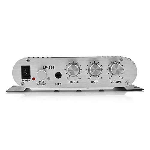 Mini HiFi 2.1 Stereo Bass Car Home Audio Power Amplifier, Supports Mobile Phones/DVD Players/Computers / MP3 / MP4(Black)