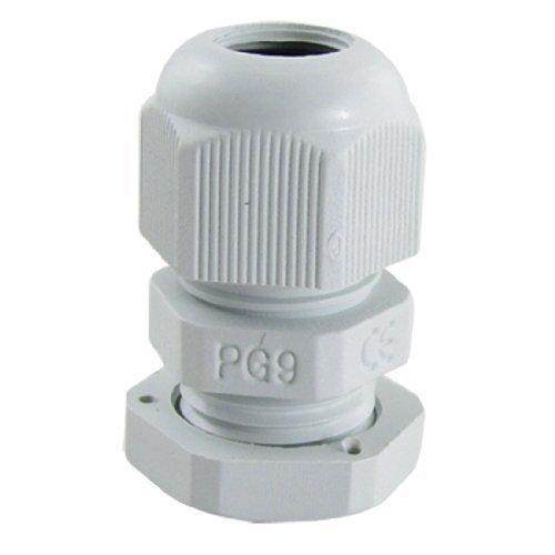 10 PC-PG9 weiße Kunststoff-Wasserdicht Kabelverschraubungen Gelenke, Modell: a11052800ux0086, Tools & Baumarkt