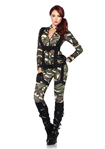 Womens Paratrooper Costume (2pc. Paratrooper Costume Bundle with Pink Shorts)