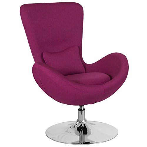 Flash Furniture Egg Series Magenta Fabric Side Reception for sale  Delivered anywhere in USA