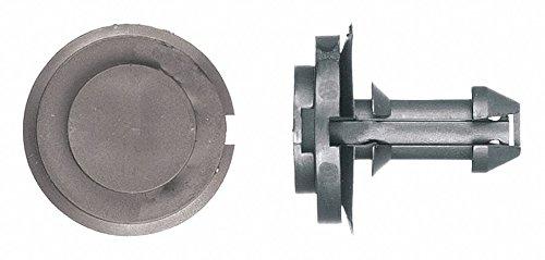 Expanding Push In Rivet, Nylon, 12mm Dia, 24mm L, 12mm, Black