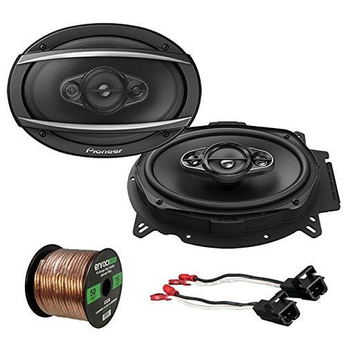 "Pioneer TS-A6960F 6""x9"" 420W 3-Way Car Speaker (Pair), Metra 72-4568 Speaker Wire Harness for Select GM Vehicles, Enrock Audio 16-Gauge 50 Foot Speaker Wire"