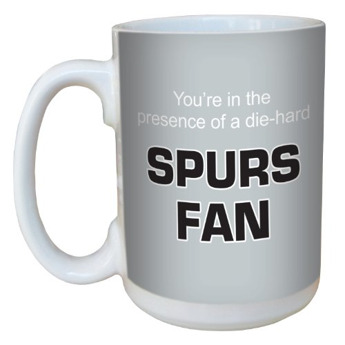 (Tree-Free Greetings lm44166 Spurs Basketball Fan Ceramic Mug with Full-Sized Handle, 15-Ounce )
