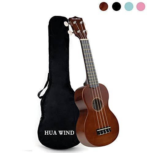 (Soprano Ukulele For Beginners Four String Ukulele W/Gig Bag (Brown))