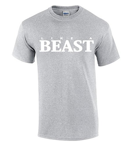 Awkwardstyles Like A Beast T-shirt Funny Party Matching Couple Shirt S Gray