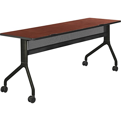 Safco Rumba Rectangular Nesting Table — 72in. x 24in., Cherry/Black, Model# 2043CYBL by Safco