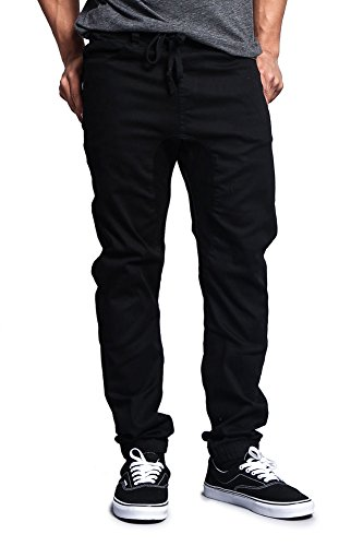 UPC 735286072655, Victorious Mens Drop Crotch Jogger Twill Pants JG804 - BLACK - 3X-Large