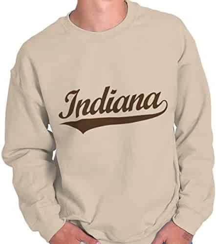 0f0bf9f1 Brisco Brands Indiana State Pride College University Hometown Apparel  Crewneck Sweatshirt