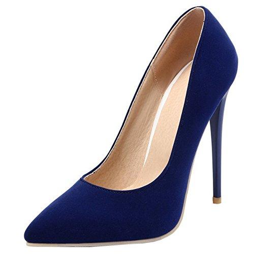 Talon Bout Femmes Su Bleu Cour Soirée Pointu Chaussures Sur De De Sur ca9393