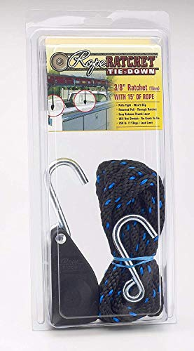 """Rope Ratchet 10025 3/8"""" Block and Tackle Ratchet Tie Down, Rope Hoist Pulley Hoist, with 15"""