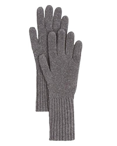 Burberry London Men's Gray Cashmere Rib Knit Gloves by BURBERRY