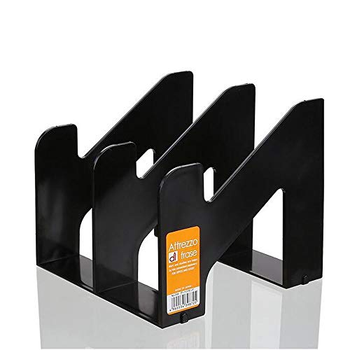 - ZH Double Slot Metal Bookends Non Slip Book End Book Stand Holder With Anti Skid Mat Students Bookshelf Desktop Heavy Duty Book Shelf Holder For Home Office School Books Dictionaries Files Documents (