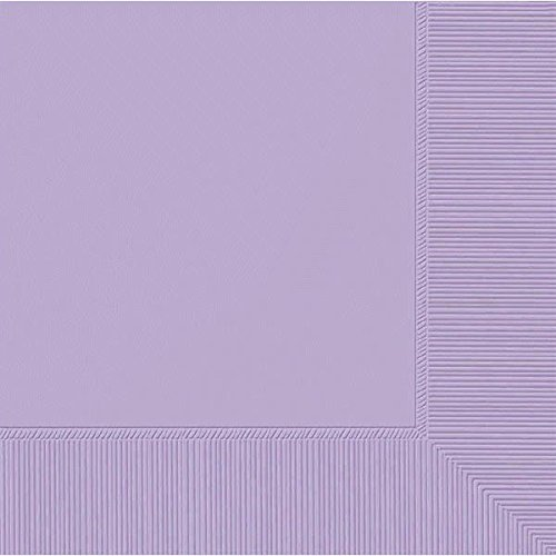 Amscan 2-Ply Lavender Beverage Napkins, 50 Ct. | Party Tableware