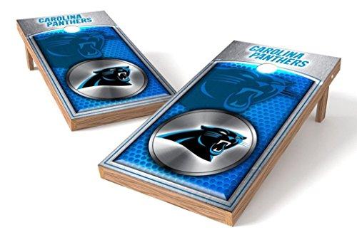 (PROLINE NFL 2'x4' Carolina Panthers Cornhole Set - Medallion Design)