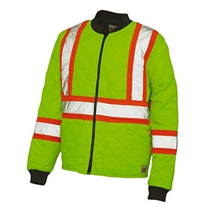 Work King Safety Men's Hi Vis Quilted Jacket