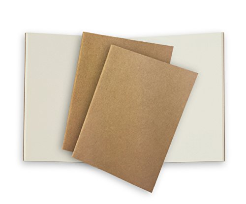 Passport Travelers Notebook Paper Refill 3 Pack 80gsm Cream Plain Inserts for Pocket Leather Journals 5