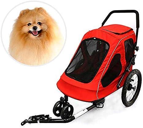 HJTLK Remolque de Bicicleta para Mascotas - Remolque para Perros y ...