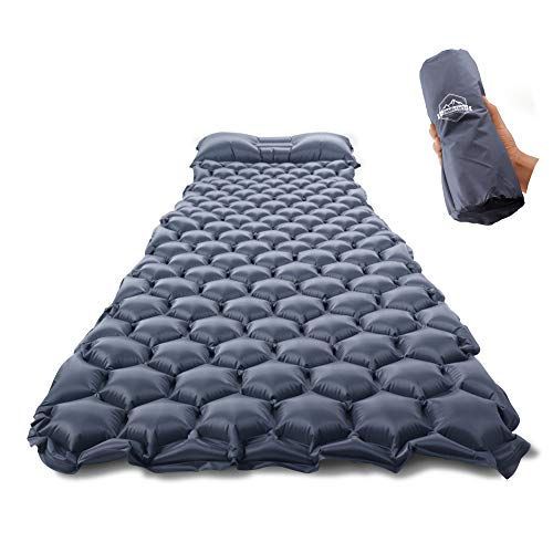 ZOOOBELIVES Ultralight Sleeping Pad with Built-in Pillow