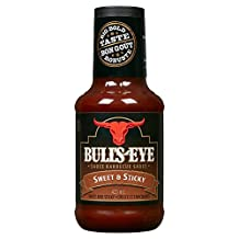 BULL'S-EYE BBQ Sauce, Sweet and Sticky, 10 Count, 425ML Each