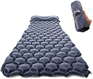 ZOOOBELIVES Ultralight Sleeping Pad with Built-in Pillow, Inflatable Camping Mattress for Backpacking, Traveli