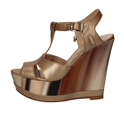 Braccialini - Sandalias de vestir de Piel para mujer Platino