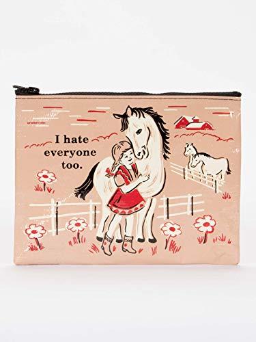 Horses Oven Mitt - Blue Q I Hate Everyone Too Zipper Pouch