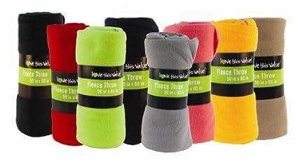 7dd9b48b33 Amazon.com  50 x 60 Inch Ultra Soft Fleece Throw Blanket Wholesale ...