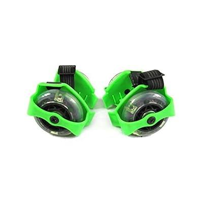 2M de patins ajustables pour chaussures avec lumière LED de couleur vert