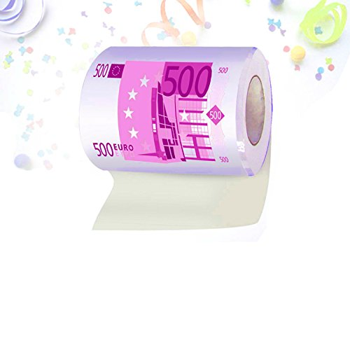 Rouleau De Papier Toilette Fantaisie Billet 500? Euros Papier Wc