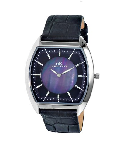 Watch Adee Kaye Men's Slim Tonneau Collection Watch Japanese quartz Mineral Crystal AK2200-MBK