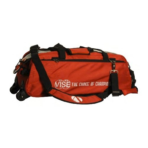 Vise Three Ball Tote Roller Bowling Bag, Red