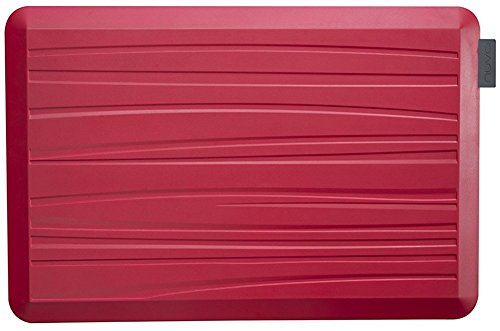 NUVA Anti-Fatigue Mats, 20 x 30 x 3/4 in, Red, Non-Slip Mat Bottom, Beach Pattern, Antimicrobial – Commercial Grade for Standup desks, Kitchens, Bathroom and Garages – Designed to Relieve Foot, Knee and Back Pain