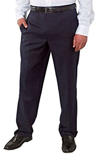 Kirkland Signature Men's Wool Gabardine Flat Front Dress Slack Pant (Black, 30 x 29)