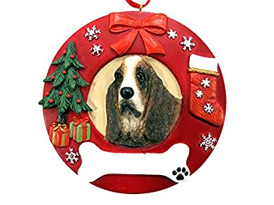 E&S Pets Dog Breed Wreath Ornament -