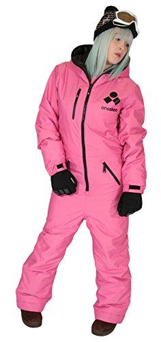 Oneskee Damen Mark II - Rosa L Einteilige Skianzüge snowboarding-Anzug
